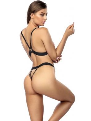 seksi biustonosz + stringi anais christine seksowny dwuczęściowy komplet bielizny damskiej