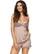piżama damska z panterką i koronkę na biustonoszu dwuczęściowa ramiączka cienkie krótkie spodenki z gumką