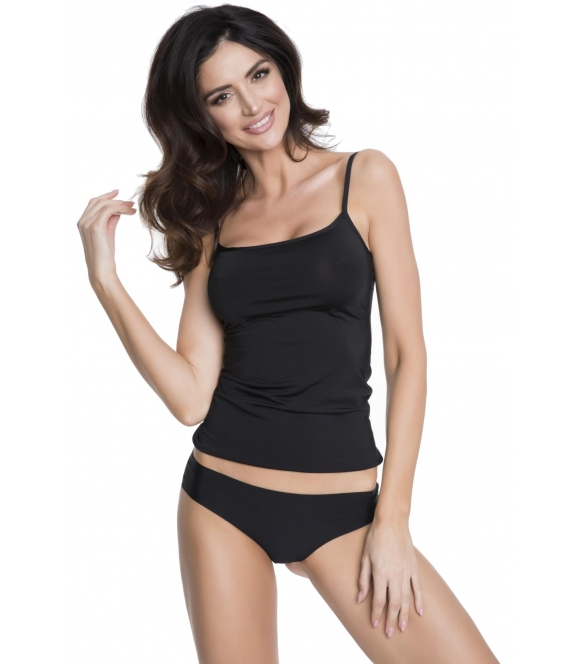 julimex czarna koszulka damska na cienkich ramiączkach