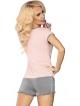 linetta 103 piżamka damska dwuczęściowa różowo szara livco corsetti
