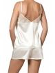 nipplex perla satynowa dwuczęściowa piżama damska z krótkimi spodenkami koszulka z koronką na ramiączkach