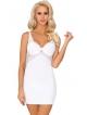 biały bardzo kobiecy komplet bielizny damskiej koszulka nocna z biustonoszem push up i koronką i stringi damskie