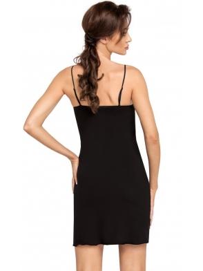 bielizna nocna koszulka damska na ramiączkach z koronkowymi wstawkami na bokach i koronkowymi miseczkami donna