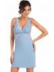 koszulka damska połączenie satyny i koronki w kolorze błękitnym piękne koronkowe ramiączka i dekolt donna irina
