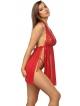 koszulka koronkowa i stringi czerwony seksowny komplet bielizny damskie anais belinda