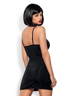 0c2b0a6e5 ... czerń obsessive greta; Sukienka damska czarna i stringi gładka z  błyszczącym zdobieniem z przodu bielizna nocna obsessive gretia