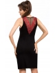 koszulka nocna z czerwonymi haftami na biustonoszu i plecach czarna seksowna donna jasmine