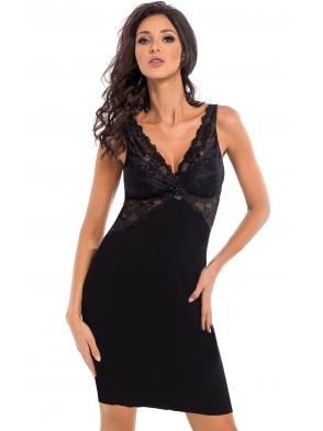 donna irina seksowna koszulka nocna bielizna damska czarna z wiskozy koronkowy biustonosz i ramiączka
