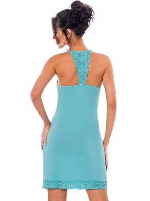 donna klaudia zmysłowa koszulka nocna damska koronkowy biustonosz i koronka na plecach turkusowa z wiskozy