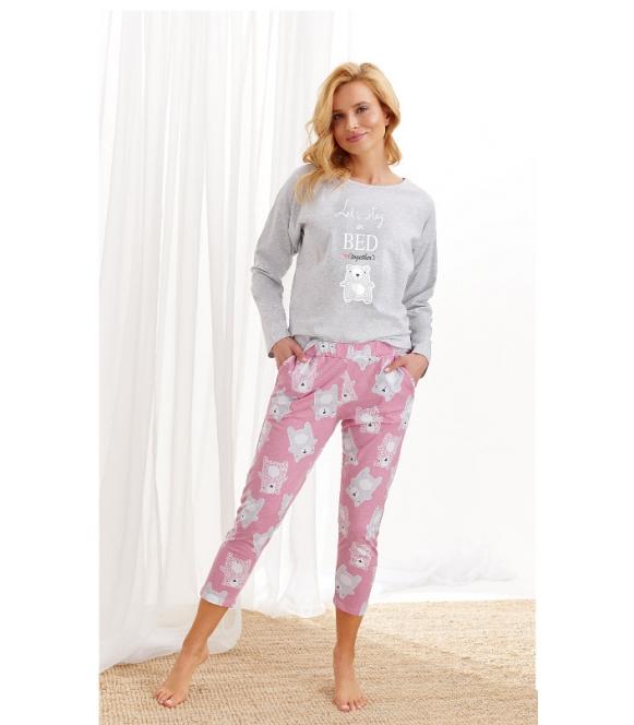 Piżama Molly 2314 AW/20 - Kolor 02 - Szary jasny-różowy