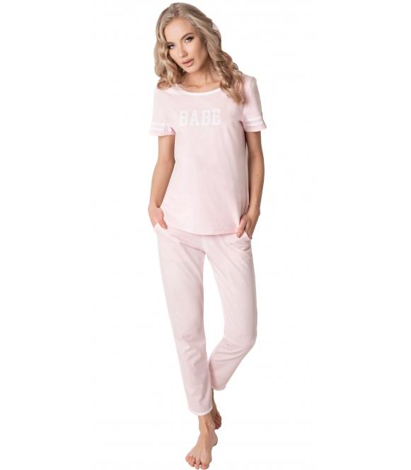 aruelle piżama babe bawełniana z krótkim rękawem i spodniami długimi z gumką w pasie