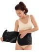 mocny pas wyszczuplający poporodowy zapinany na rzep  regulowany czarny idealny po porodzie