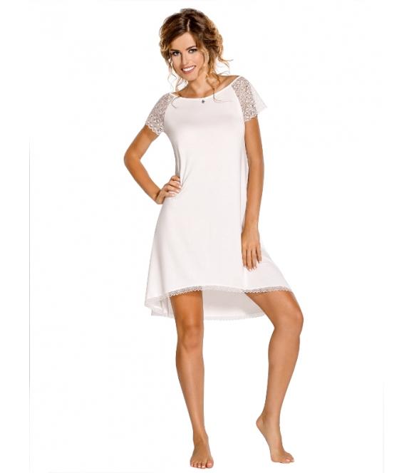 nipplex sabrina elegancka koszula nocna damska z koronkowymi wstawkami