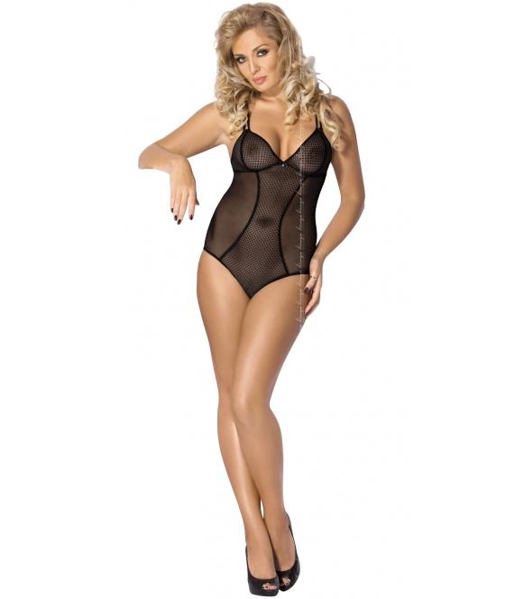 przezroczyste czarne body damskie seksowne bielizna damska z mocniej wyciętymi plecami kinga impress