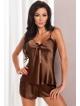 irall aria seksowny czekoladowy komplet bielizny damskiej satynowy koszulka na ramiączkach k krótkie szorty