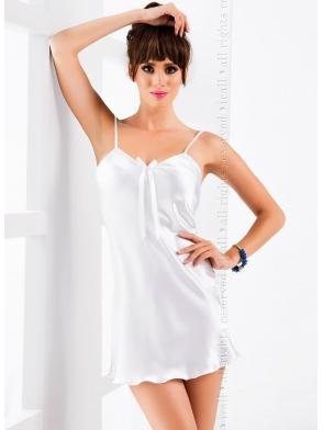 irall o5 aria satynowa seksi koszulka nocna damska biała na cienkich regulowanych ramiączkach