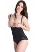 julimex 119 wyszczuplające modelujące body damskie w kolorze czarnym pod biust