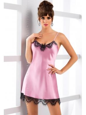irall bielizna molly koszulka nocna satynowa w kolorze brudnego różu z koronkowymi wstawkami