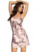katie perłowo różowa koszulka nocna damska firmy donna krótka na ramiączkach kwiatowy motyw