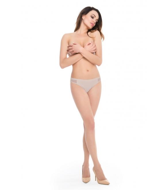 Figi Bikini Panty Beżowe