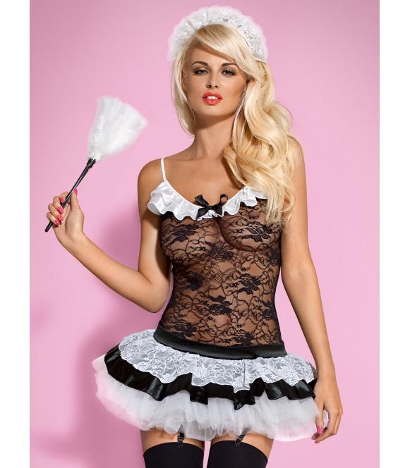 5-częściowy kostium pokojówki seksowne przebranie damskie obsessive housemaid