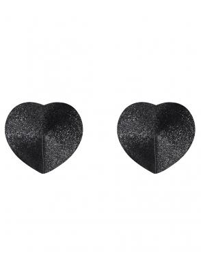 obsessive a751 nasutniki osłonki serca czarne na sutki samoprzylepne