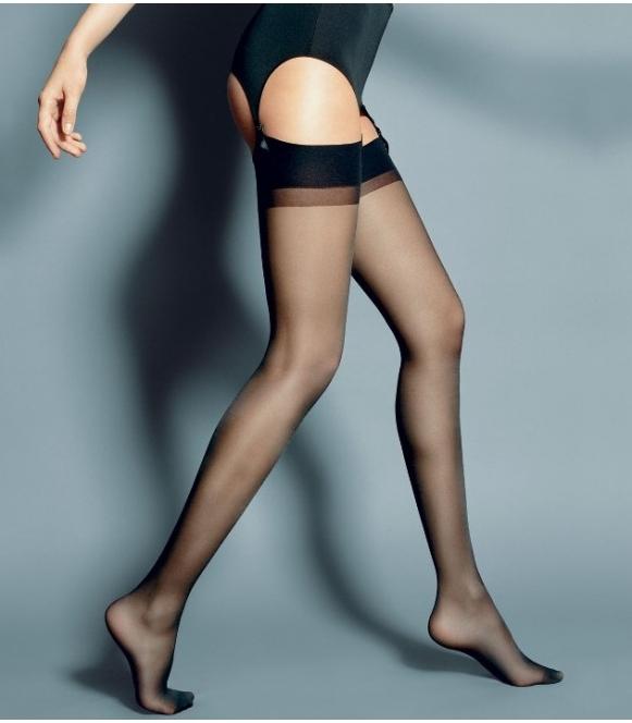 calze seksi pończochy do pasa do pończoch z wzmocnioną górną częścią firma veneziana