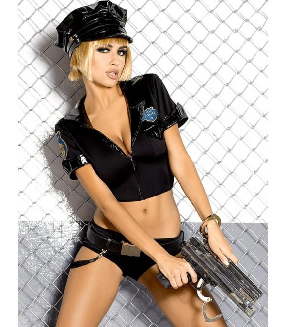 kostium erotyczny policjantki seksowny 6 częściowy obsessive police