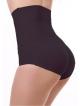 wysokie majtki push up modelujące i powiększające pośladki efekt brazylijski wysoki stan czarne
