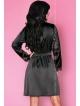 livco corsetti natasha peniuar szlafrok damski czarny haftowany wiązany w pasie