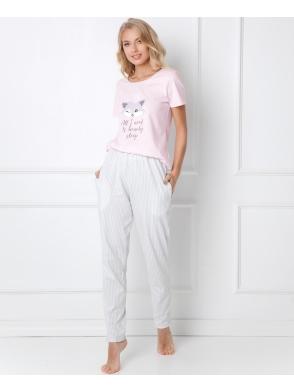 trixie piżama w paski aruelle dwuczęściowa z koszulka z krótkim rękawem i długimi spodniami