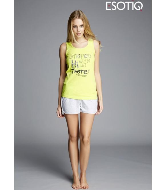 piżama krótka esotiq kita 33003 -71X 33006 -71X bawełniana na ramiączkach