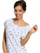 bielizna nocna koszula damska krótki rękaw kolorowy modny nadruk długość przed kolano bawełniana