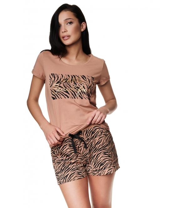 Piżama Zanzibar 39211-84X Brązowa