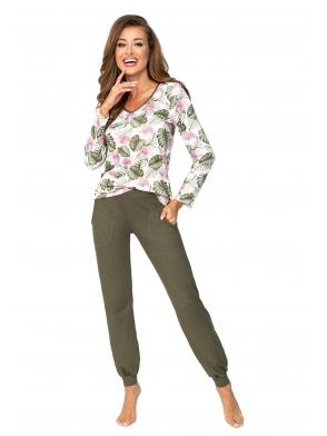 oliwkowa piżama damska donna mila khaki