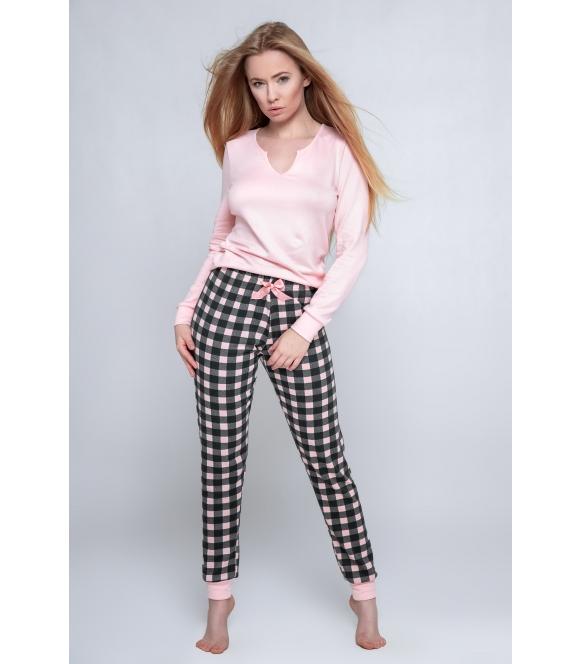 piżama femme spodnie w kratę firmy sensis