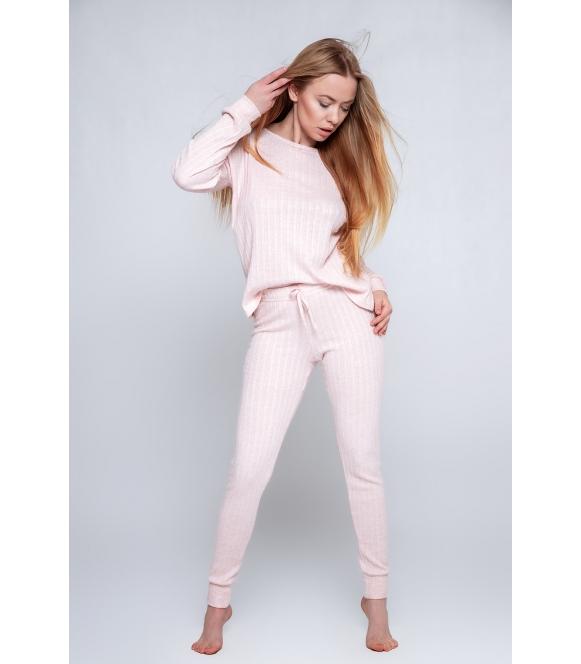 jasno różowa piżama dolce vita pink wiskozowa