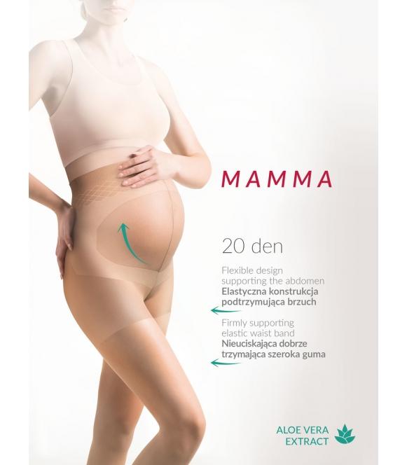 mamma rajstopy ciążowe z panelem na brzuch 20 den gabriella