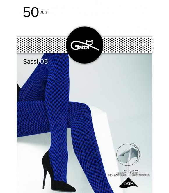 Rajstopy Sassi 05 Gatta 50 DEN Blue-Nero