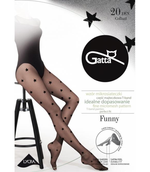 gatta funny 06 rajstopy w duże gwiazdki czarne