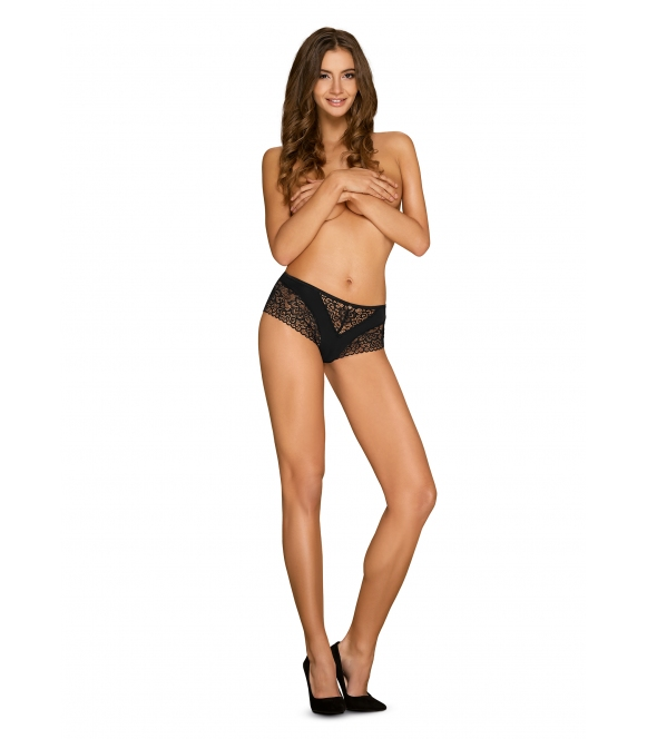 obsessive shorty cecilla koronkowe czarne