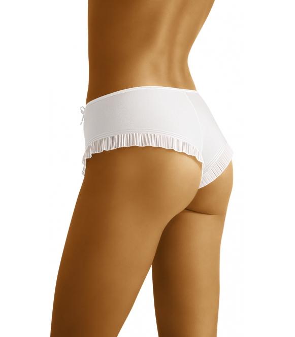 wolbar szorty shorty z falbanką inca białe
