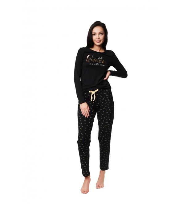 czarna damska piżama zazzy 39223-99x henderson ladies