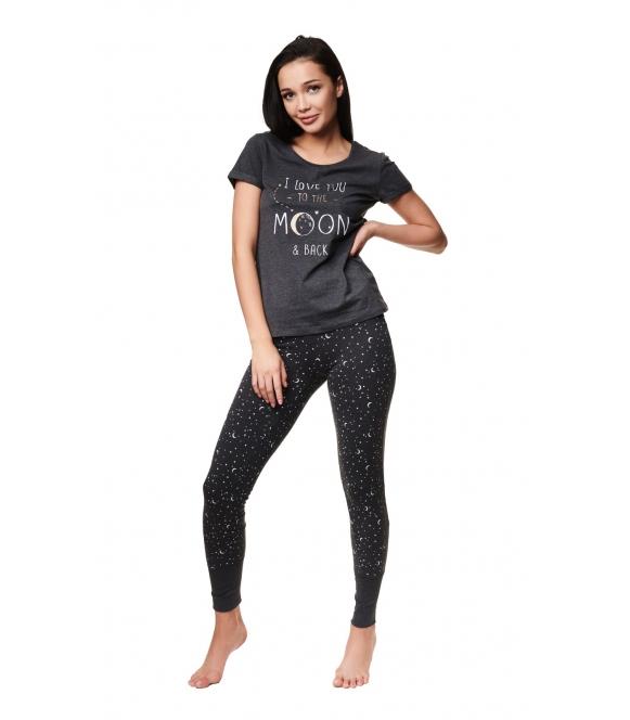 grafitowa piżama damska zadie 39224-90x firmy henderson ladies