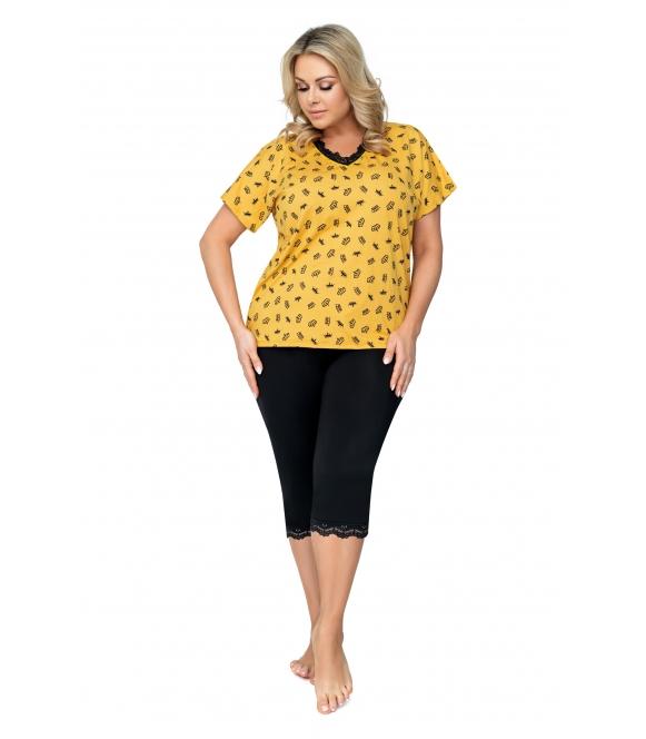 queen piżama damska plus size 3/4 firmy donna