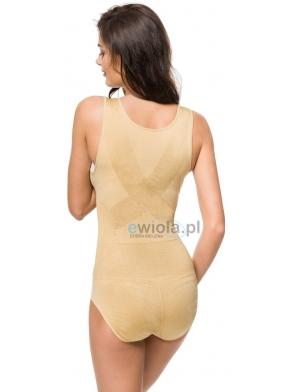 Body wyszczuplające  modelujące bielizna wyszczuplająca pod biust z efektem PUSH UP prostującym sylwetkę regulowane w kroku