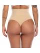 bielizna wyszczuplająca majtki stringi damskie beżowe wysoki stan mocno wyszczuplające brzuch