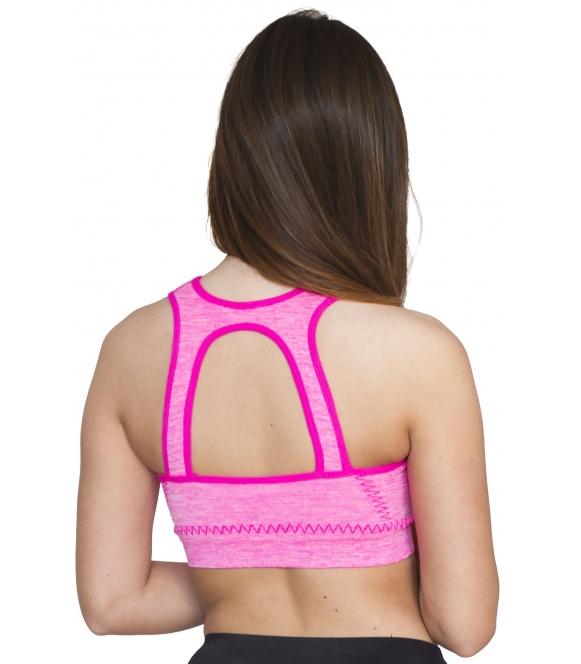 Biustonosz dla Pań sportowy Fitness różowy