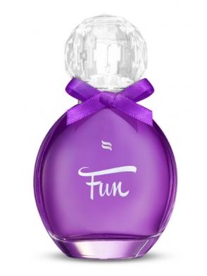 feromonowe perfumy damskie fun zapach kwiatowo owocowy buteleczka z zamknięciem w kształcie kryształu