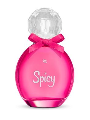 orientalno kwiatowe perfumy z feromonami 30 ml buteleczka z zamknięciem w kształcie kryształu różowe